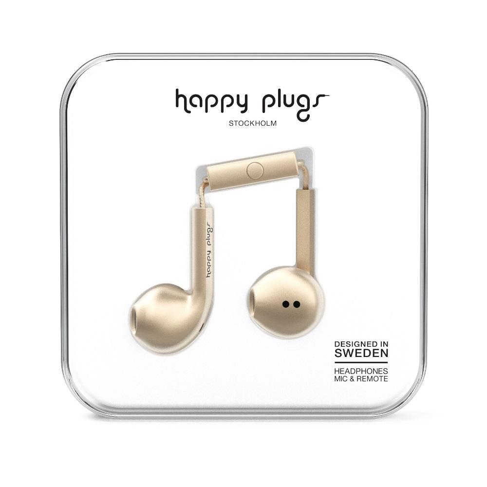 Happy plugs 極致耳塞式耳機 奢華限定款-香檳金