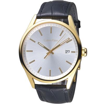 Calvin Klein 極簡知性時尚腕錶(K4M215C6)金色/43mm