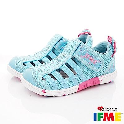 IFME健康機能鞋 輕量透氣排水款 NI02303淺藍(小童段)