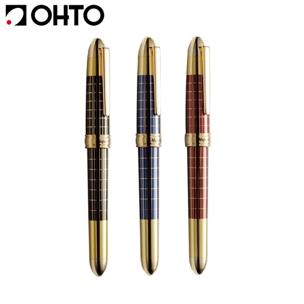 日本OHTO復古鋼筆Majestic萬年筆FF-20MJ(金屬筆身;德國施密特SCHMIDT不鏽鋼鍍金筆尖)