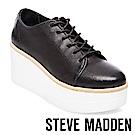 STEVE MADDEN-KIMBER 素面綁帶厚底鞋-黑色