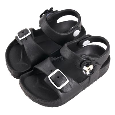 迪士尼童鞋 米奇 立體造型防水涼鞋-黑(柏睿鞋業)
