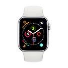 [無卡分期-12期] Apple Watch S4 GPS 40mm 銀色鋁錶殼搭白色錶帶