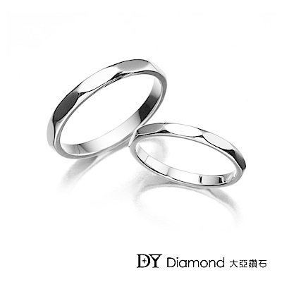 DY Diamond 大亞鑽石 18K金 經典結婚對戒