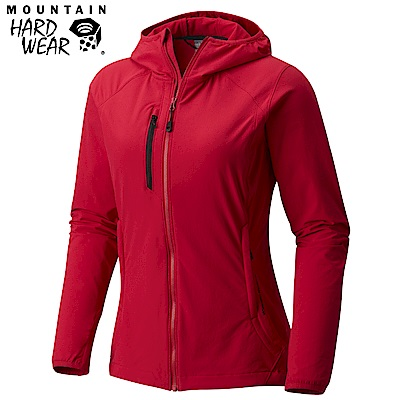 Mountain Hardwear 女款-防曬50防潑軟殼連帽外套-紅色