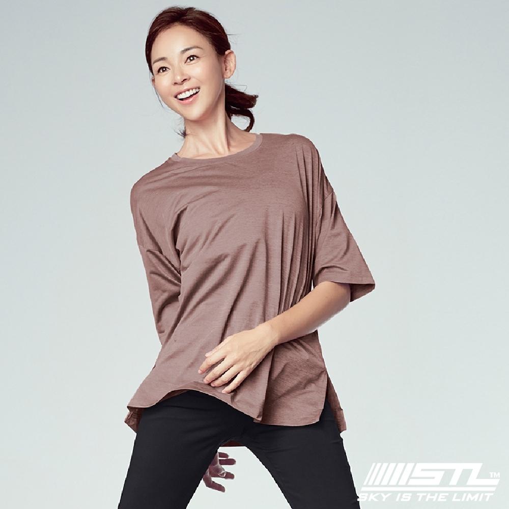 STL yoga Everyday Free SS 韓國運動機能 落肩長版短袖上衣 美日 乾燥玫瑰DryRose
