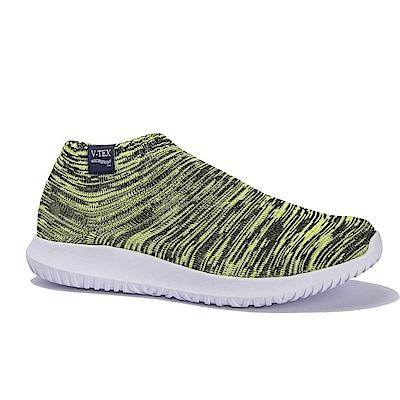 V-TEX  時尚針織耐水鞋/超輕量襪鞋 地表最強防水透濕襪鞋-夜螢黃(女)