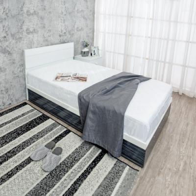 Birdie南亞塑鋼-3.5尺單人側掀收納型塑鋼床組(床頭片+側掀床底)(不含床墊)(鐵刀木色)