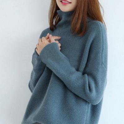 初色  高領純色針織毛衣-共3色-(M-XL可選)