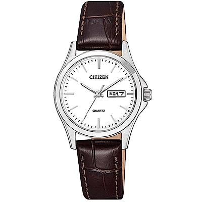 CITIZEN 大方經典石英腕錶/EQ0591-21A