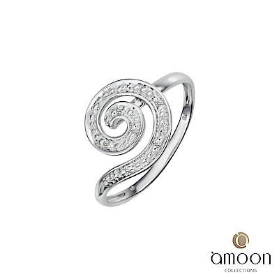 amoon 浪漫艾菲爾系列 迴旋 K金鑽石戒指