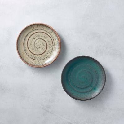 有種創意 日本美濃燒 - 點心小盤 - 雙件組 15cm
