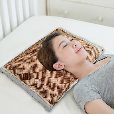 凱蕾絲帝-台灣製造-純天然清涼透氣紙纖綠豆枕-青少年女性中枕