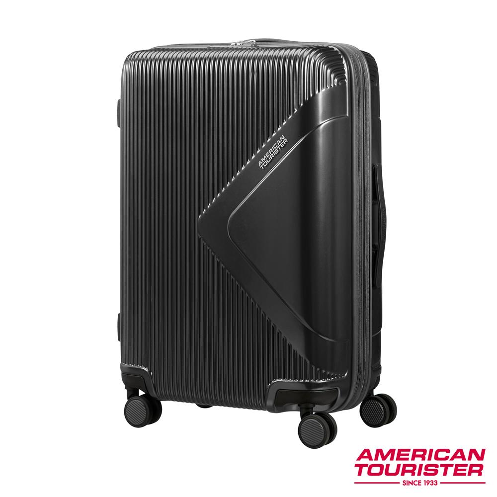 AT美國旅行者 29吋Modern Dream都會光澤防刮耐磨硬殼TSA行李箱(碳黑)