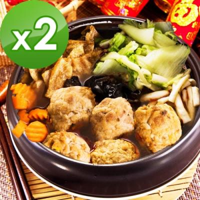 樂活e棧 麻辣紅燒獅子頭2盒(1200g/盒)三低素食年菜(年菜預購)