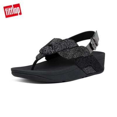 FitFlop PAISLEY ROPE BACK-STRAP SANDALS後帶涼鞋-女(靚黑色)