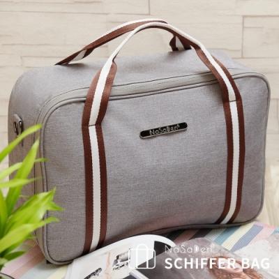 【NaSaDen】鎏金版 雪佛包-肩背/手提/穿套行李箱-/收納袋/行李袋-相當一個16吋的行李箱-萊姆灰