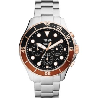 FOSSIL FB-03 伯爵茶色運動計時手錶 FS5768