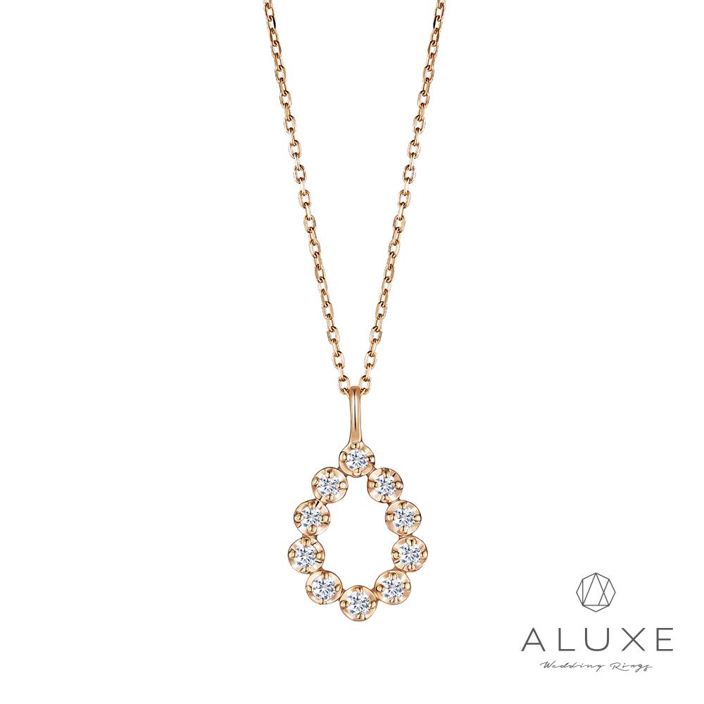 ALUXE 亞立詩 Shine系列 10K造型鑽石項鍊