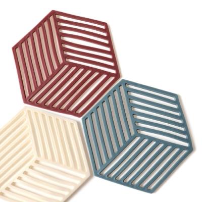 北歐風 簡約 六邊形 耐高溫 矽膠隔熱墊
