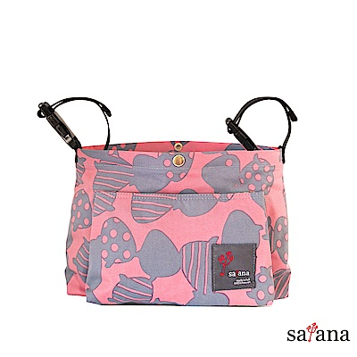 satana - MAMA 兩用嬰兒推車吊掛袋/斜背包 - 歡喜玫瑰