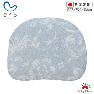 MAKURA【Baby Pillow】透氣兩用嬰兒靠枕-花朵藍