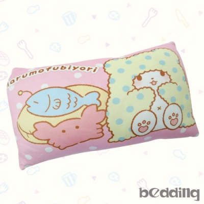 BEDDING-三麗鷗正版授權-毛毯熊莫普長方形抱枕-粉色