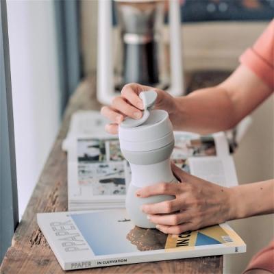 仁舟淨塑 矽密咖啡杯500ml-歐蕾(灰白)