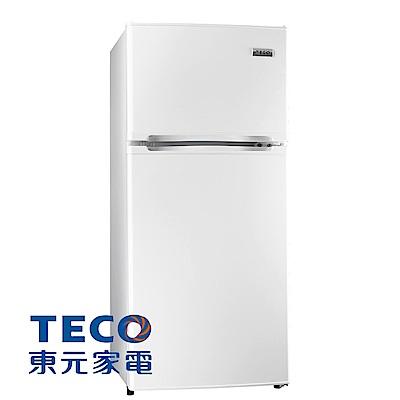 【TECO 東元】125公升 經典定頻雙門冰箱 (R1303W)