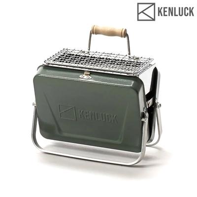 【KENLUCK】迷你攜帶型烤肉架 Mini Grill 灰綠