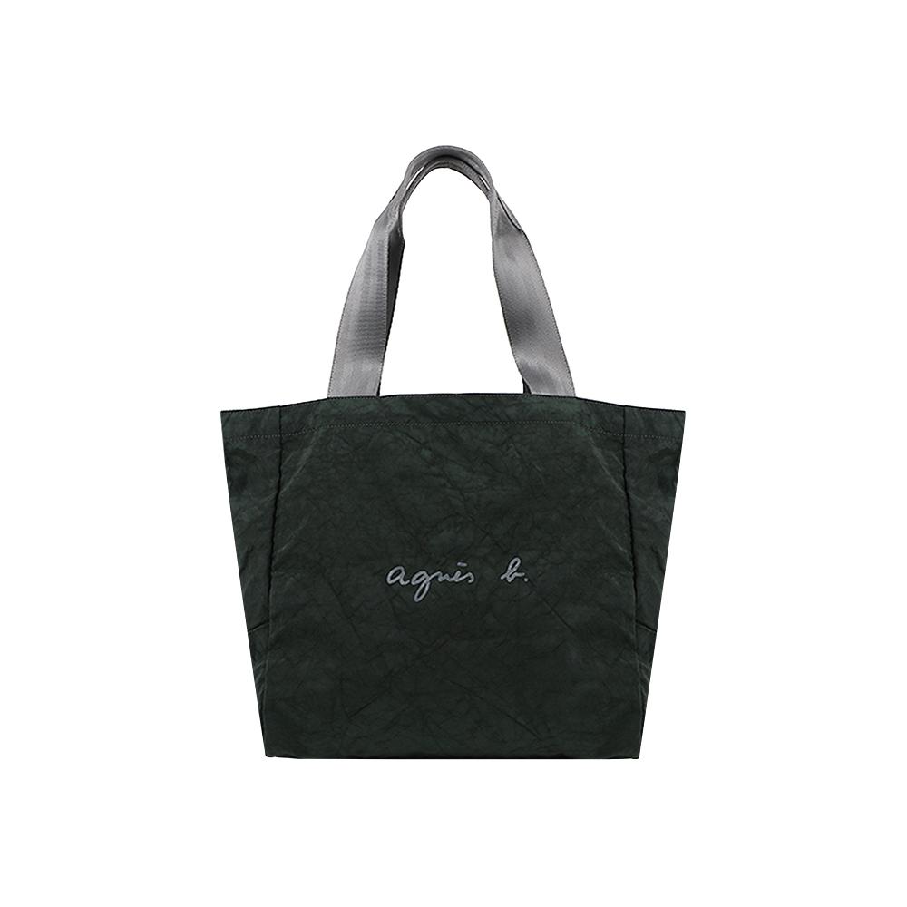 agnes b. Voyage 回收尼龍環保托特包 (綠)