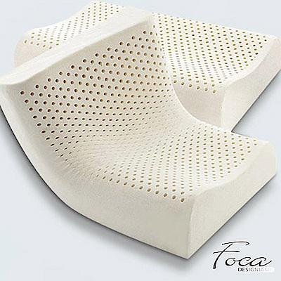 FOCA睡眠品質-人體工學曲線型100%天然乳膠枕(超值買一送一)