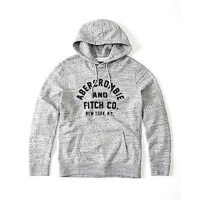 麋鹿 AF A&F 經典文字刺繡設計連帽T恤-灰色