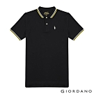 GIORDANO 男裝企鵝刺繡彈力萊卡POLO衫-09 標誌黑