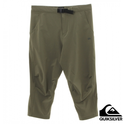 【QUIKSILVER】 RAPID TECH CROPPED PANT 長褲 軍綠