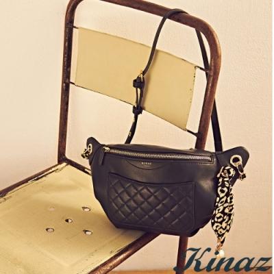 KINAZ 斜背腰包-莫爾納煙囪捲系列