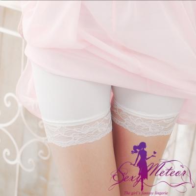 內搭 全尺碼 內搭褲安全褲(白莫代爾蕾絲) SexyMeteor