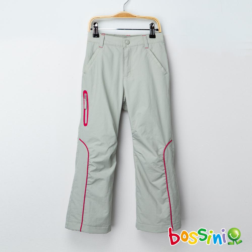 bossini女童-(網路款)多功能防風雪褲淺灰