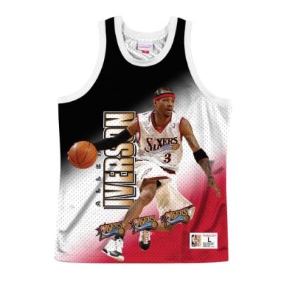 M&N NBA 球員印刷 復古球衣 76人 Allen Iverson
