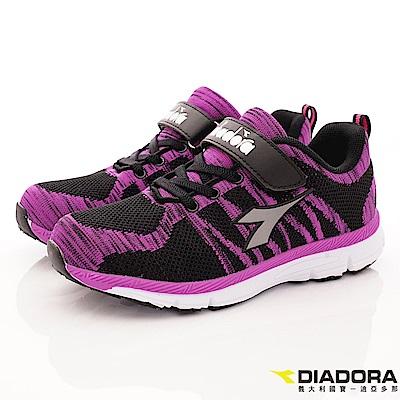 DIADORA 機能飛織運動鞋款 RSI382黑桃(中大童段)