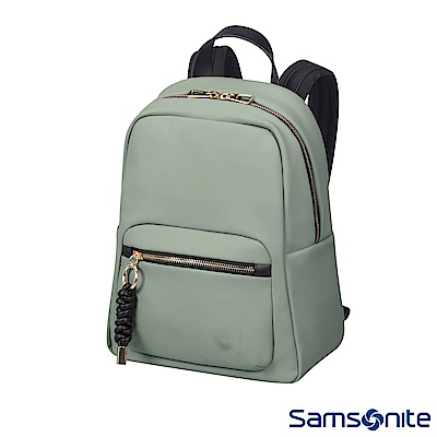 Samsonite新秀麗 Smoothy輕量皮革後背包(橄欖綠)
