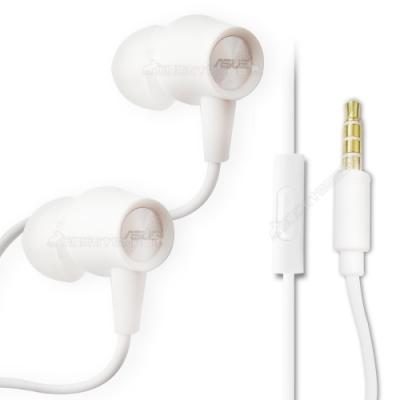 華碩ASUS原廠 3.5mm接頭 入耳式 線控耳機麥克風(白-簡裝)