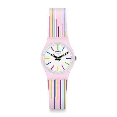 Swatch I love your folk系列手錶 GUIMAUVE 粉彩紋路