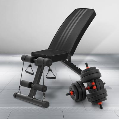 bakkarat 40kg槓鈴啞鈴兩用組+可調式2合1重訓椅