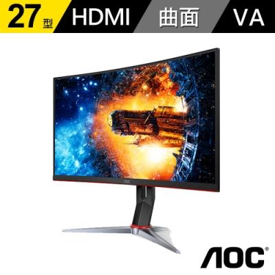 AOC 27型 曲面寬螢幕顯示器 CQ27G2