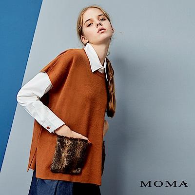 MOMA人造毛口袋短袖上衣_2色