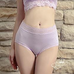 內褲  超柔軟親膚蕾絲褲-淺紫 La Queen