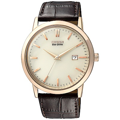 CITIZEN 氣宇軒昂光動能石英腕錶(BM7193-07B)-白/40mm @ Y!購物