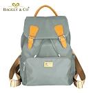 【BAGGLY&CO】真皮尼龍拉繩防盜後背包(三色)