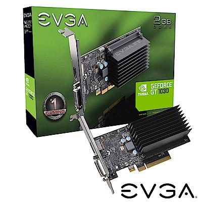 艾維克EVGA GT1030 2GB DDR4 64bit PCI-E圖形加速卡